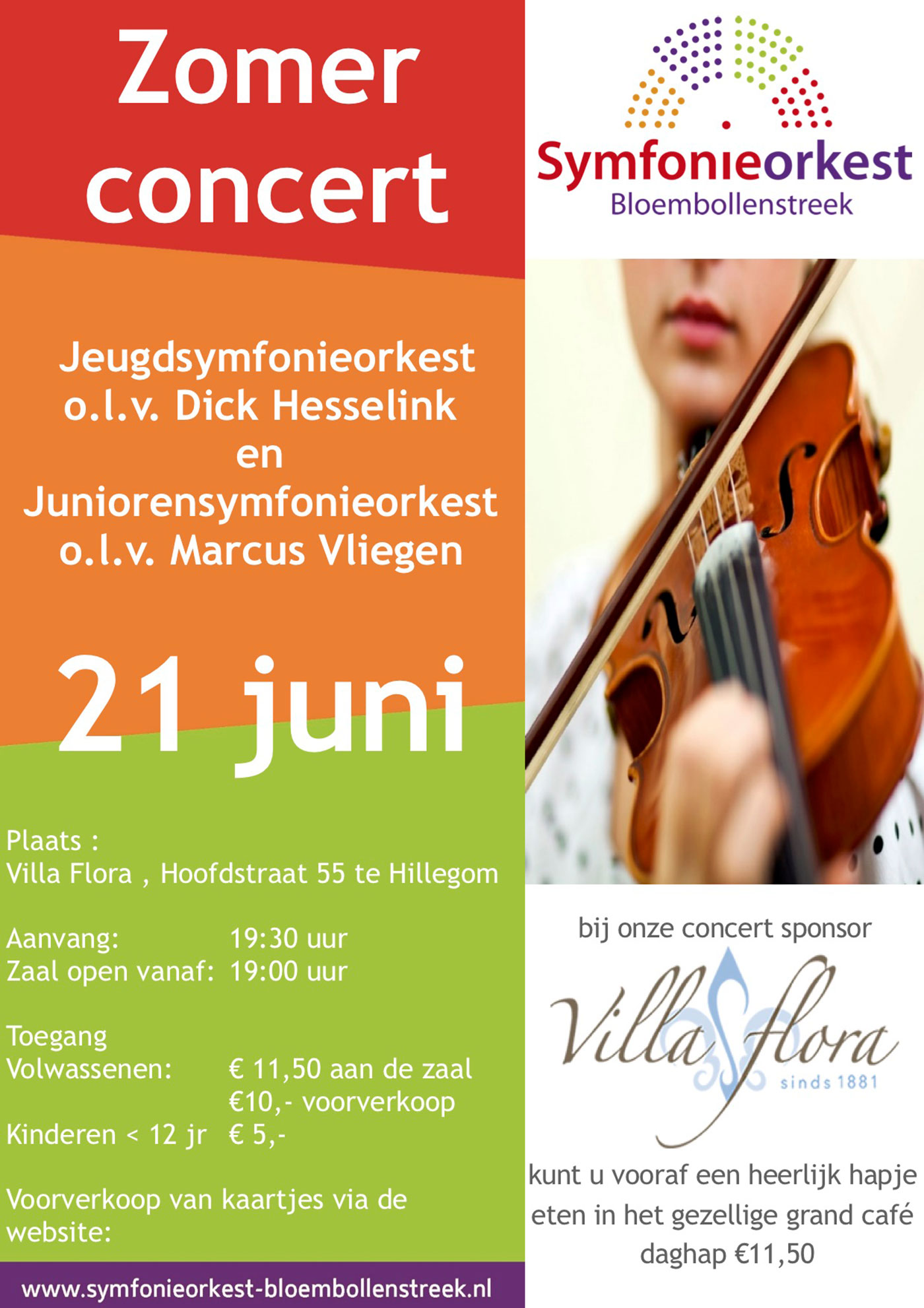 2019 06 21 Poster Zomerconcert Symfonieorkest Bloembollenstreek