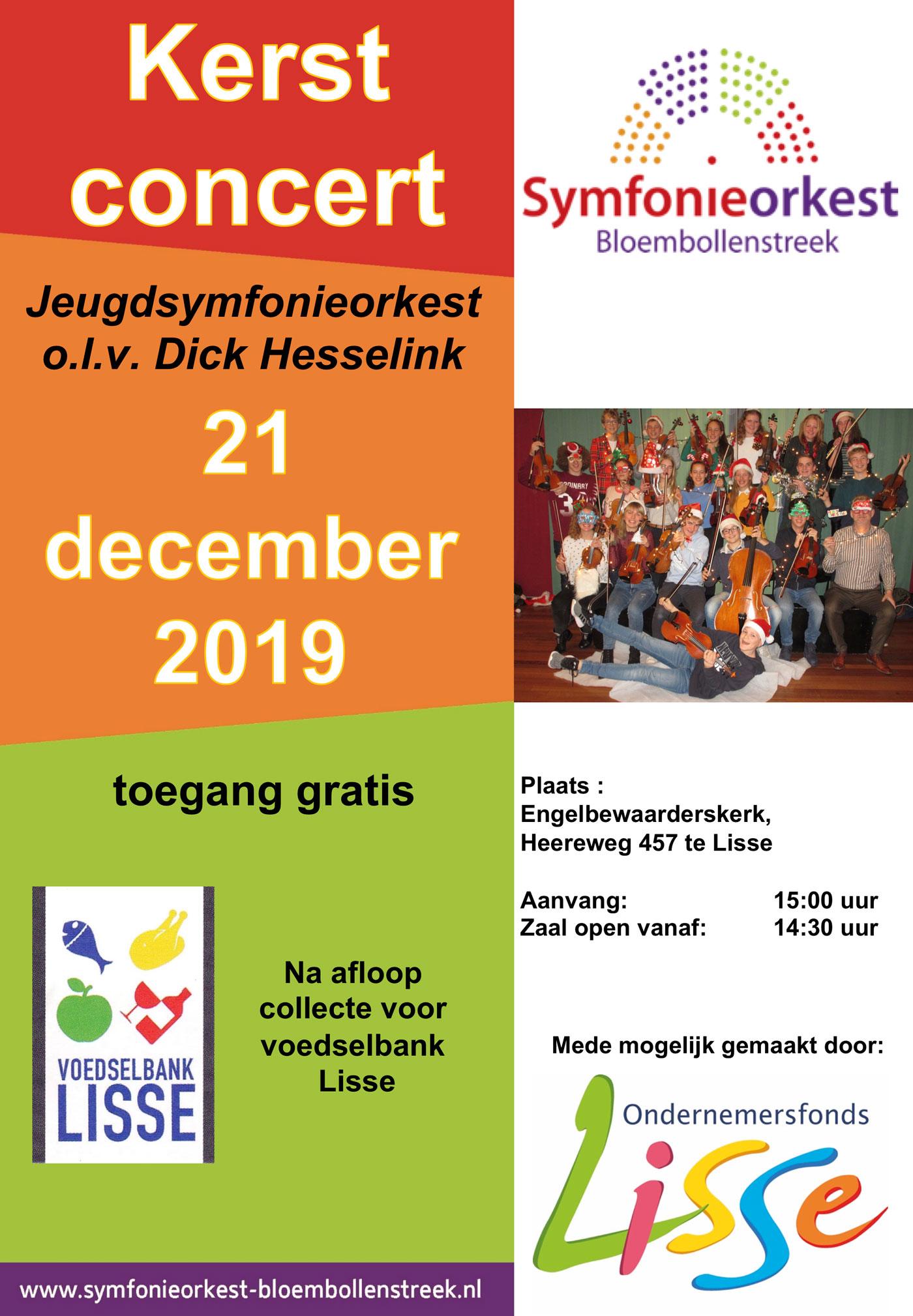 2019 12 21 Poster Kerstconcert Jo Symfonieorkest Bloembollenstreek
